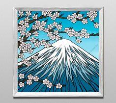 Mount Fuji by Hawai'i Surf Artist Heather Brown www.HeatherBrownArt.com