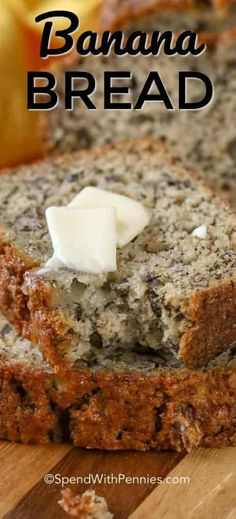 This is an easy Banana Bread recipe that makes a soft and moist banana bread Once you try this it ll become your go-to to use ripe bananas spendwithpennies bananabread easybananabread quickbananabread nofail nofailbananabread # Easy Bread Recipes, Banana Bread Recipes, Easy Banana Nut Bread Recipe Moist, Banana Bread Recipe Frozen Bananas, Banana Bread Recipe With Two Bananas, Banana Bread Recipe Using Sour Cream, Moist Banana Bread Recipe Sour Cream, Easy Banana Desserts, Hawaiian Banana Bread Recipe