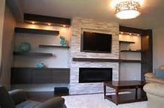 Bump Out Wall With Electric Fireplace and Tv - Yahoo Image Search Results