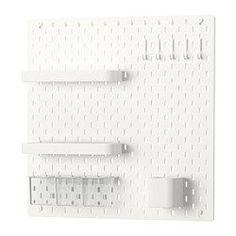 Before after pegboard bedroom wall buenas ideas - Ikea wandaufbewahrung ...