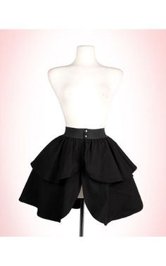 Canvas Underskirt in Black - Laura Byrnes - House Brands | Pinup Girl Clothing