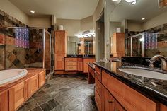 2344 Camden Dr Houston, TX 77021: Photo Master Bath with His and Hers Counter and sink space.