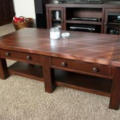 Build a Pottery Barn Inspired Benchwright Coffee Table