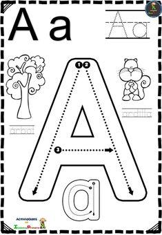 Letter Worksheets For Preschool, Kindergarten Math Worksheets, Homeschool Kindergarten, Alphabet Worksheets, Kindergarten Writing, Alphabet Activities, Printable Alphabet Letters, Preschool Spanish, Preschool Learning Activities