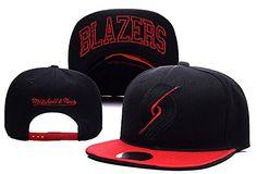 71d5b30b0ac Mens Portland Trail Blazers Mitchell and Ness NBA XL Blackout Script  Underbill Snapback Cap - Black   Red