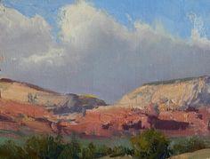"Bill Anton Studio | Desert Sandstone"", oil, 8"" x 10"""
