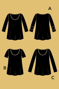 DEER & DOE - T-shirt Plantain  t. 34 - 52  PDF  //  * 150 x 150 cm de jersey léger (40/50% d'élasticité)  * 25cm laminette