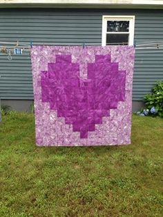 This quilt was made by Beth for Joe Thurston's wife, I love the colors and the way the heat seems to hover over the background!  She will be blessed I am sure!