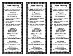 Close Reading Bookmarks {FREE} #close #reading #guided #evidence #comprehension