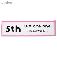 Lychee 1pc EXO 5TH Anniversary Support Banner Party DIY Decoration #Affiliate