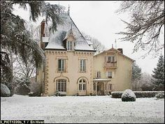Chateau in France Tan stucco French Country House facade. Wish list for a French style home