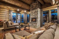 OPPLEV NYE RØROSHYTTA VISNINGSHYTTE!   FINN.no Timber Cabin, Wooden House, Rustic Elegance, Living Room Inspiration, Log Homes, Sweet Home, House Ideas, Interior Design, Furniture