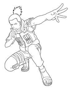 Shikamaru Ready To Fight Gaara, Naruto Shippuden Sasuke, Shikamaru, Naruto Sketch, Naruto Drawings, Anime Sketch, Drawing Anime Bodies, Anime Character Drawing, Anime Naruto