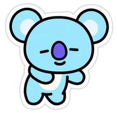 Chimmy Sticker Set' Sticker by Skaii Stickers Kawaii, Pop Stickers, Tumblr Stickers, Printable Stickers, Cute Cartoon Drawings, Bts Drawings, Cartoon Wallpaper, Bts Wallpaper, Bts Emoji