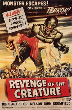Revenge of the Creature 1955 Movie Poster Mini Poster Style C. Available here: http://www.classichorrorposters.com/shop/11x17-inch-mini-posters/revenge-of-the-creature-1955-movie-poster-mini-poster-style-c/