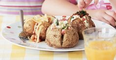 The perfect baked potatoes are slightly crispy on the outside and soft in the interior. Try them with these topping suggestions or try a few combinations of your own.