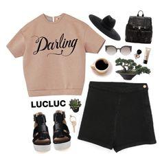 """// L U C L U C · 3 //"" by theonlynewgirl ❤ liked on Polyvore featuring Maison Margiela, RetroSuperFuture, Bare Escentuals, Proenza Schouler, Bobbi Brown Cosmetics and Yves Saint Laurent"