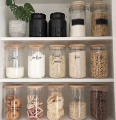 Custom Pantry Labels (Single or Bulk) Kitchen Organization Pantry, Home Organisation, Organized Pantry, Kitchen Storage Jars, Canisters For Kitchen, Ikea Pantry, Mason Jar Kitchen Decor, Kitchen Labels, Food Storage Containers