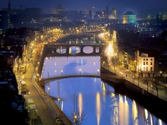 Dublin at night.