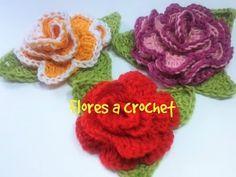 flores a crochet muy fácil #tutorial - YouTube