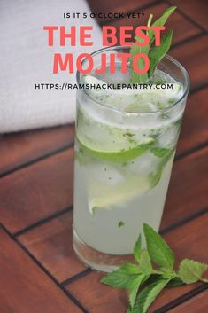 Just using sugar, lime mint, soda water and, of course, rum.... you can bring the tropics to you. This traditional Mojit will knock your socks off. Visit ramshacklepantry.com #mojitos #rum #drink #Mixologist #lime #mint #HappyHour