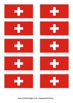The Swiss flag is of course very unusual – when you cut out this square printable version in five different sizes it feels very strange! Girl Scout Swap, Girl Scout Troop, Girl Scouts, Christian Flag, Brownies Girl Guides, Switzerland Flag, Swiss Flag, Swiss Family Robinson, Flag Coloring Pages