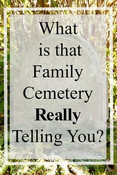 Family cemeteries are gold mines for you the genealogist. But, I have to ask.... Are you recognizing everything your ancestor's family cemetery is telling you? Are you missing clues to your research questions? Do you leave the cemetery with answers or clues to the next step in your research? I have missed clues in my excitement of just finding a particular ancestor's gravestone. I want to help you not make the same mistakes I did.
