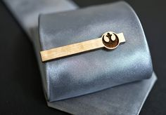 fbee9811122 Star Wars Tie Clip REBEL ALLIANCE logo - Maple wood tie bar