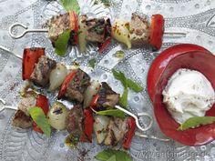 Weckt Urlaubsgefühle: Türkische Fleischspieße aus Lamm und Kalb - smarter - Kalorien: 362 Kcal | Zeit: 50 min. #barbecue #summer #turkey