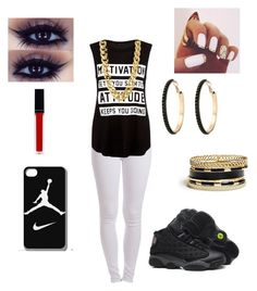 """""""Untitled #188"""" by kawaii2cute ❤ liked on Polyvore featuring Pieces, Retrò, NIKE, GUESS, CC SKYE and Witchery"""