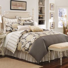 Maybe another set for our master bedroom?  I like it :)  Lucca Comforter Set, 100% Cotton - Bed Bath & Beyond