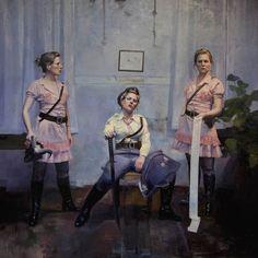 Knut Andre Vikshåland - Maleri, Pink Army
