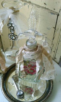Romantic Rose Embellished  Shabby Chic Decorative by shabbychatue, $15.00