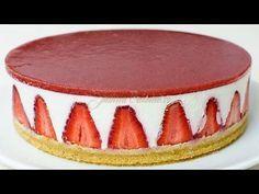 Cheesecake fara coacere reteta video - JamilaCuisine Blueberries as top layer for of July! Chocolate Peanut Butter Cheesecake, Nutella Cheesecake, Cheesecake Recipes, Baked Strawberries, Chocolate Strawberries, No Cook Desserts, Dessert Recipes, Cheesecake Frio, Cheesecake