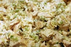 Authored By:  Recipe: HCG Chicken Salad with CelerySummary: HCG Chicken Salad with Celery that cuts down on the carbs and keeps the protein high.  Celery helps
