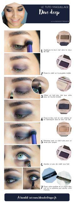 Make-up// Dive deep | | Bleu Electrique