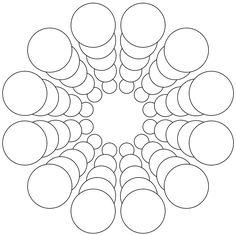 Free Printable Mandala Design Coloring Pages - Bing ResimlerMandala of circles - 15 degree rotational symmetryCircles - use to countdown days for school breaks? Mandala Art, Mandala Design, Mandala Painting, Mandala Drawing, Doodle Patterns, Zentangle Patterns, Mandala Pattern, Zentangles, Dot Art Painting