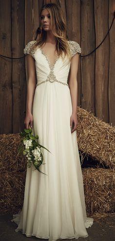Beaded wedding dress | Sheba by Jenny Packham