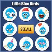 Little Blue Birds Happy Birthday Emoji, Happy Valentines Day, Boy Birthday, Animated Emoticons, Funny Emoticons, Facebook Emoticons, Kiss Emoji, Smiley Emoji, Christmas Emoticons