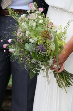 Flower Design Events: Wild Flowers & Grasses Wedding Day at The Inn at Whitewell for Laura & Gareth Barlow