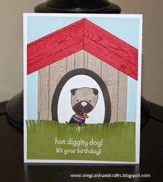 Oh! M.G. Cards and Crafts: Hot Diggity Dog!