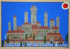 奧村譲 OkumuraYuzuru 托斯卡綱山城 San Gimignano  36x51cm  #art #gallery #watercolor #hongkong #painting #artwork #memory #hongkongartgallery #exhibition #artist #artwork #drawing #artgallery #asianart #SanGimignano #ComunediSanGimignano #UNESCO #heritage #heritagesite #watercolor #BellissimaItalia #Italia #Japanartist #Japan #OkumuraYuzuru