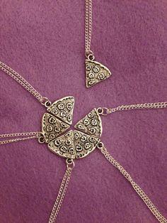 1 pizza Slice collier pendentif argent pour les meilleures amies !!!