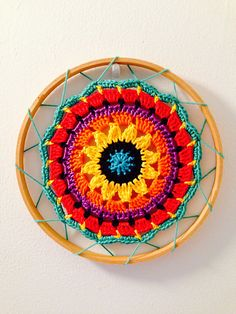 Ravelry: Project Gallery for Sunny Flower Mini Mandala pattern by zelna olivier Más Crochet Home, Diy Crochet, Crochet Crafts, Crochet Doilies, Yarn Crafts, Crochet Flowers, Crochet Projects, Crochet Mandala Pattern, Crochet Squares