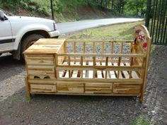 Baby Cradle Woodworking Plans Unique 47 Rustic Baby Cribs Best 25 Rustic Crib Id… - Modern Rustic Baby Cribs, Rustic Crib, Rustic Nursery, Wooden Cribs, Baby Crib Diy, Best Baby Cribs, Ideas Dormitorios, Baby Bedroom, Baby Furniture
