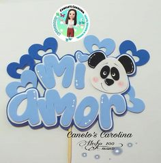 Happy Panda, Ideas Para, Cake Toppers, Origami, Diy And Crafts, Lettering, Party, Projects, Ideas