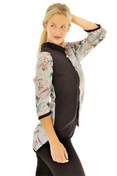 Sırtı Desenli Şifon Gömlek | Modelleri ve Uygun Fiyat Avantajıyla | Modabenle
