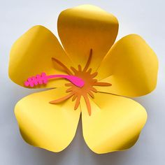 Excited to share the latest addition to my shop: SVG DXF PNG Petal 101 (Hibiscus) Paper Flower Template Diy Cricut and Silhouette machines ready 2 center components included Paper Flowers How To Make Paper Flowers, Giant Paper Flowers, Diy Flowers, Flower Petal Template, Leaf Template, Hibiscus Flowers, Flower Petals, Tropical Flowers, Festa Moana Baby