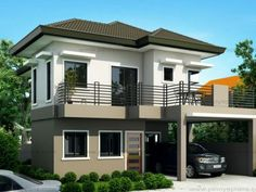 [ Four Bedroom Two Story House Design Pinoy Eplans Modern Transforming One Storey Ranch Into Open Floor Plan ] - Best Free Home Design Idea & Inspiration 3 Storey House Design, Two Story House Design, 2 Storey House, Duplex House Design, Small House Design, Modern House Design, Two Storey House Plans, New House Plans, Kerala
