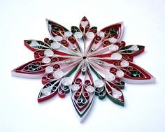 Christmas decoration, Eco-friendly, quilled paper. $7.20, via Etsy.